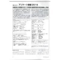 【特集Part1】: アンケート調査2015