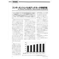 【特別寄稿】: コンポーネントレベル光アッテネータ市場予測