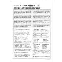 【特集Part1】:アンケート調査2012