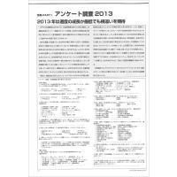 【特集Part1】:アンケート調査2013